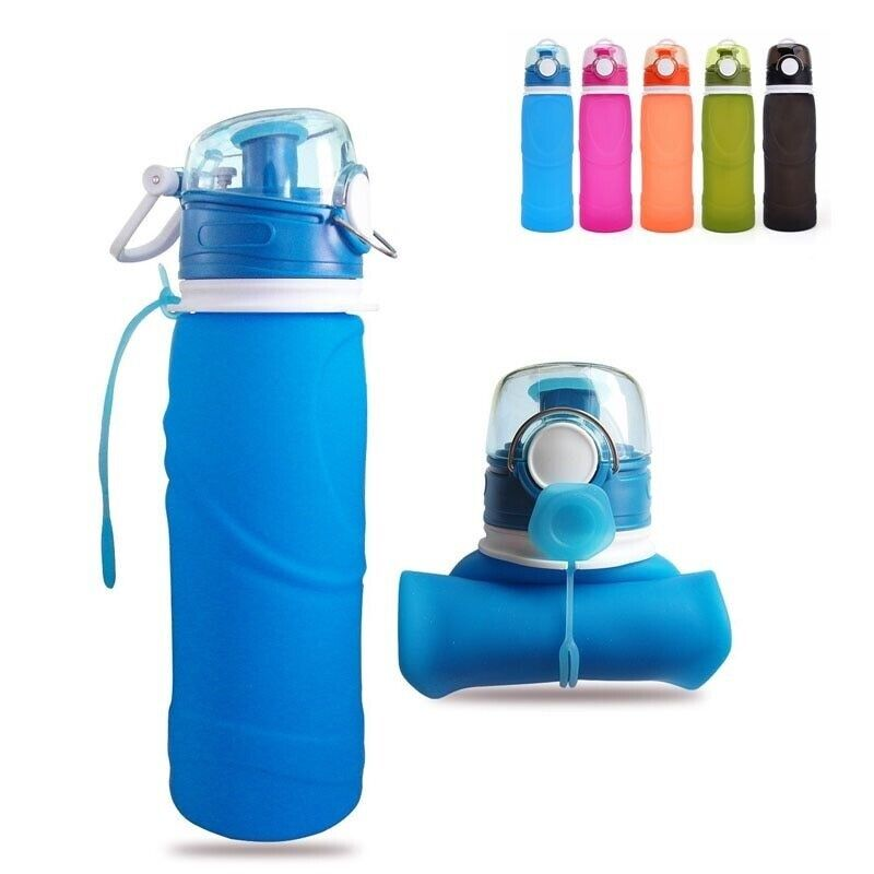 0.5 L Fashion Flexible Collapsible Foldable Reusable Water Bottles Ice Bag