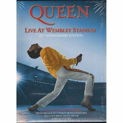 Queen Box 2 CD 2 DVD Live At Wembley Stadium Limited Ed Sigillato 0602527795706