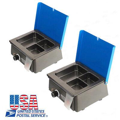 2pcs Dental Equipment Melting Pot Analog Wax Heater Pot Jt-15 For Dental Lab Usa