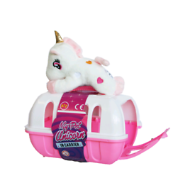 My pet unicorn stuff toy with large pet carrier
