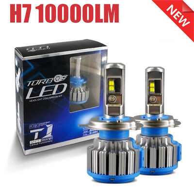 2xT1 H7 Turbo LED Headlight Conversion Kit 100W 6000K White Front Bulb Auto Lamp for sale  Shipping to Canada