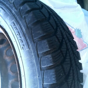 175/70r13 Winter Tires and Steel Wheels great for small car