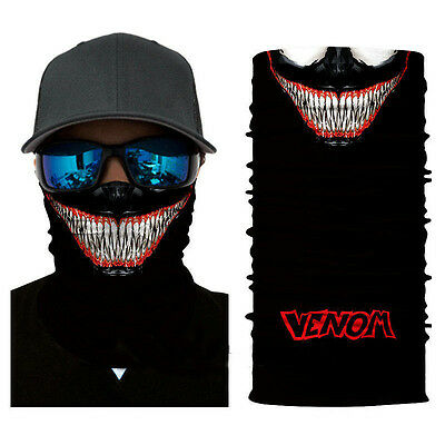 Motorcycle SKULL Face Shield Neck Gaiter Neckerchief Sun Mask Balaclava Scarf for sale  Shipping to Canada
