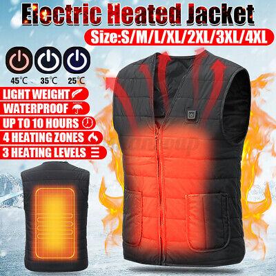 usb electric winter heated warm vest men