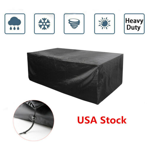 Waterproof Outdoor Rattan Furniture Covers for Patio Table S