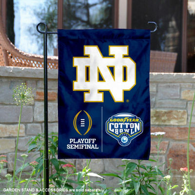 - Notre Dame 2018 Cotton Bowl Semifinal Game Garden Flag and Yard Banner