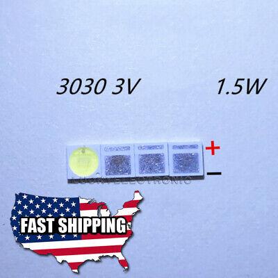 100Pcs 3030 3V 350mA SMD Lamp Beads for LED TV Backlight Strip Bar Repair TV