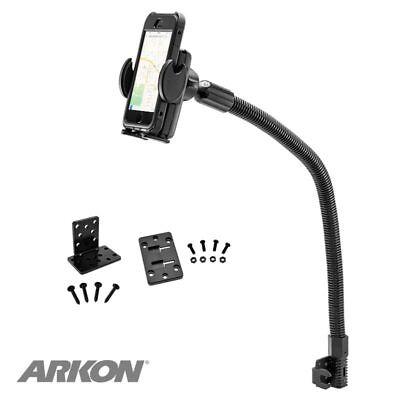 "SM488L22: Arkon Mega Grip Seat Rail or Floor Phone Car Holder Mount with 22"" Arm"