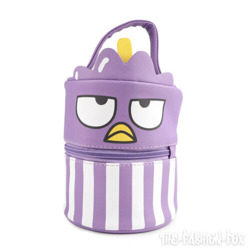 New RARE Sanrio Badtz Maru hello sanrio Purple Lunch Bag Box Food Container Set