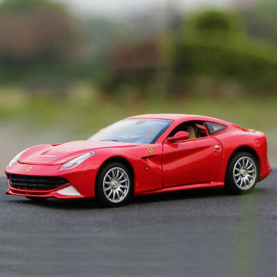 12 Red Diecast Car - Ferrari F12 Berlinetta 1:32 Diecast Model Car Toy Collection Sound&Light Red