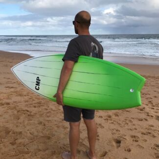 Surfboard Hybrid Brushed Carbon Sizes 5'6 to'6'6 CMP BOARDS