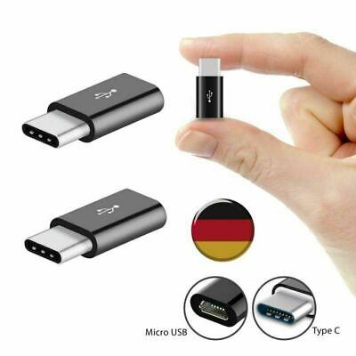 2x USB-C Adapter Konverter Für Samsung Galaxy Note 8 Edge Huawei Data Ladekabel