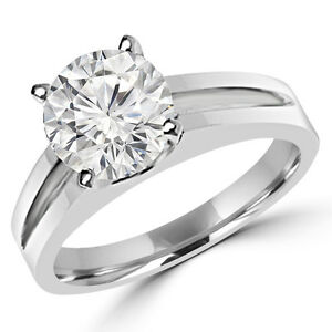 Bague de Fiançailles 0.90CT Round Diamond Engagement Ring