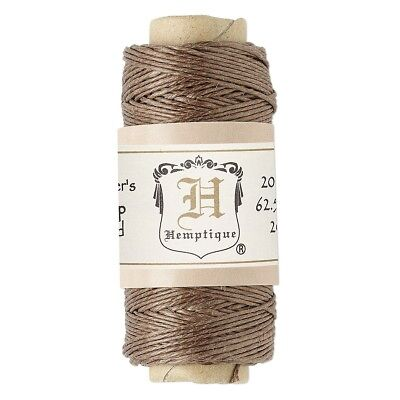 (100' 3-Ply Polished Light Brown Hemp Cord String Spool)
