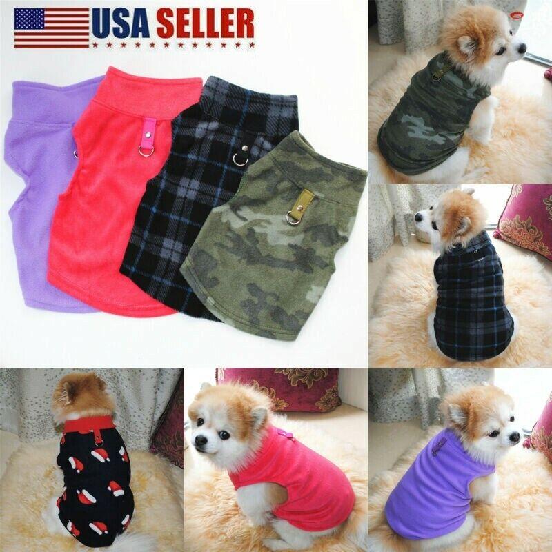 Pet Small Dog Fleece Harness Vest Jumper Sweater Coat Puppy Shirt Jacket Apparel