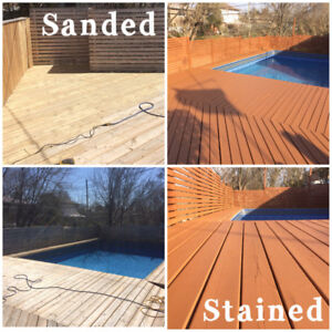 647-677-5659 TORONTO'S BEST 1 DAY DECK FENCE STAINING FROM $199