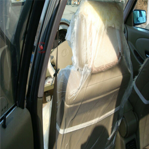 50 Pcs Car Auto Clear Disposable Plastic Seat Films Cover Covers Full New Ebay