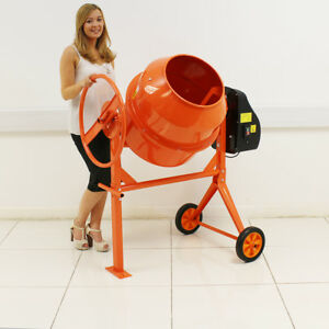 140 LITRE PRO 240V 550W PORTABLE ELECTRIC CONCRETE CEMENT MIXER MORTAR PLASTER