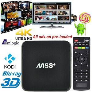 2017 Model M8S+ PLUS TV BOX IPTV JAILBREAK HD 4K KODI XBMC