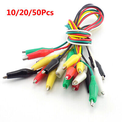2050pcs Diy Alligator Crocodile Clips Electrical Test Cable Lead Jumper Wire