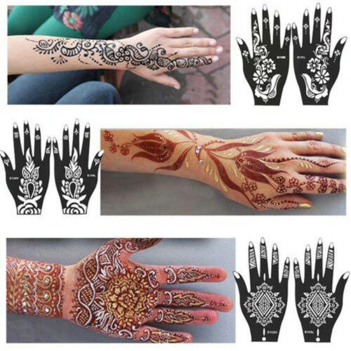 India Hand Leg Henna Temporary Tattoo Template DIY Body Art Sticker