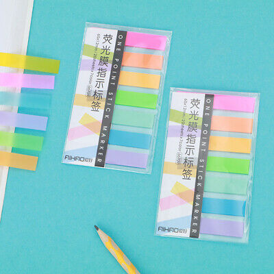 Fluorescent Colors Sticky Notes Memo Pad Stickers Page Marker Flags Tabs Index