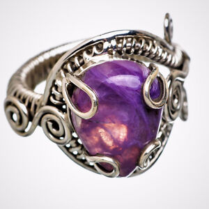 Charoite 925 Sterling Silver Ring – Size 9 by Ana Silver