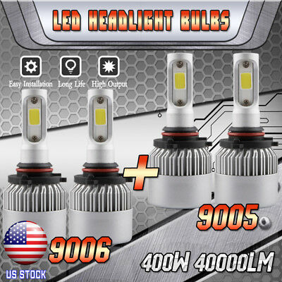 9005+9006 Combo LED Headlight Hi/Low Beam for GMC Sierra 1500 2500 HD 1995-2006 1995 Xenon Headlight Bulbs