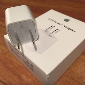AUTHENTIC APPLE USB WALL CHARGER ADAPTER FOR IPHONE, IPOD, IPAD
