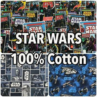 STAR WARS Millenium Falcon Comic Book Droids 100% Cotton Patchwork Craft Fabric