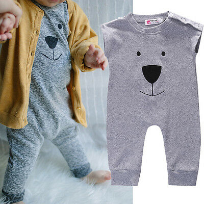 Newborn Baby Girl Boy Bear Rompers Bodysuit Playsuit Jumpers Outfits Costume](Baby Boy Bear Costume)