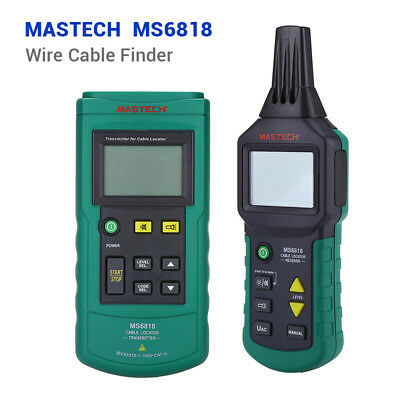 Ms6818 Cable Locator Tracker Telephone Network Metal Pipe 12v-400v Acdc Tester