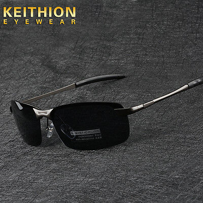 Mens Rimless Polarized Sunglasses UV400 Outdoor Sports Driving Glasses Eyewear
