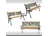 (NEW) - 3 Seater Outdoor Wooden Garden Bench