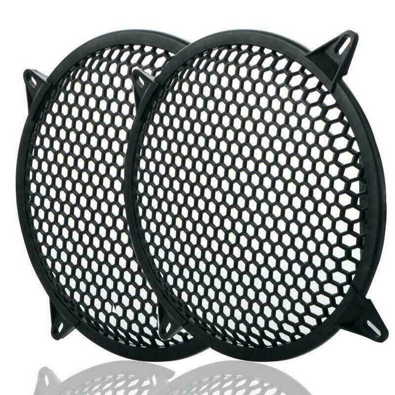 """12"""" 1 PAIR SUBWOOFER SPEAKER COVERS WAFFLE MESH GRILL PROTECT GUARD CLIP NEW"""