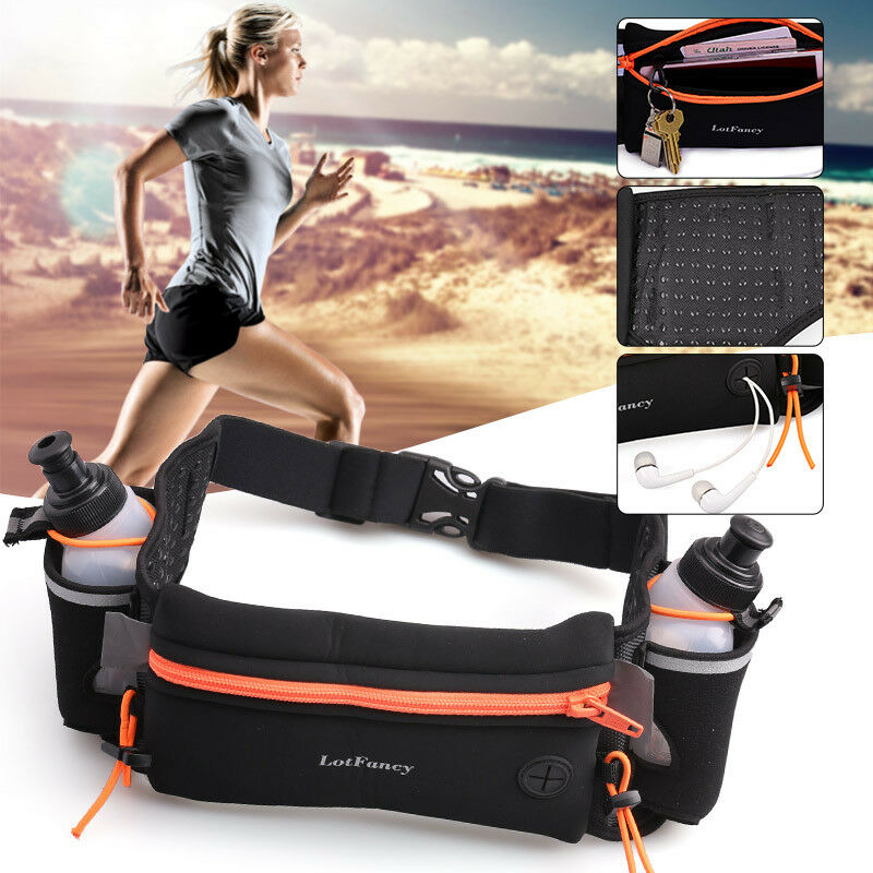 Women Men Running Belt Waist Hydration Pack Fanny Pouch Phon
