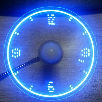 Flexible Mini LED USB Fan Powered Cooling Flashing Display Function Gadget New!
