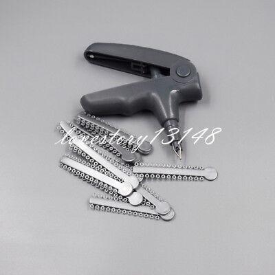 Dental Orthodontic Ligature Gun Dispenser 1008 Pcs Elastomeric Rubber O-ring