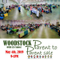 Spring Woodstock Parent to Parent Sale - Over 125 Tables!