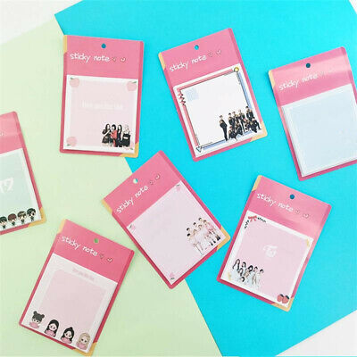 Kpop Nct Blackpink Sticky Notes Twice Got7 Memo Pad Planner Stickers Bookmark