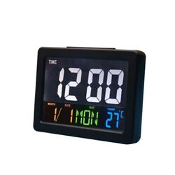 1x Large Digital Jumbo LED Desk Alarm Clock Display Calendar Temperature Date