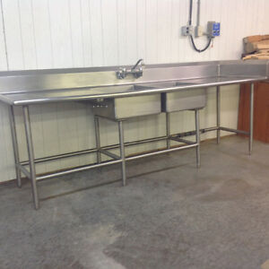 Stainless steel industrial sink