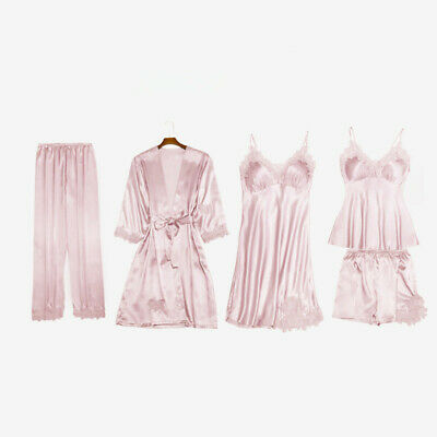 Carlty's Silk Pyjamas,Ladies Sexy Lingerie, Luxury Nightwear. 5 Piece Pyjama set Luxury Silk Lingerie