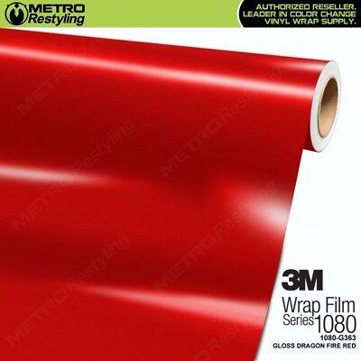 3M 1080 Series GLOSS DRAGON FIRE RED Vinyl Vehicle Car Wrap Film Sheet Roll (Dragon Vehicle)
