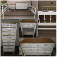 White French Provincial Twin Bedroom Set -  Baronet