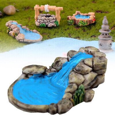 Fairy Garden Decor (Resin Water Well Pool Miniature Fairy Garden Decor Landscape Craft)