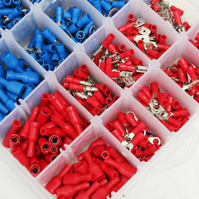 Assorted Terminal Crimp Insulated Car Electrical Wire Connector Spade 360pcs Set