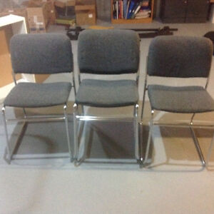Chrome Stacking Chairs (set of four chairs) London Ontario image 1