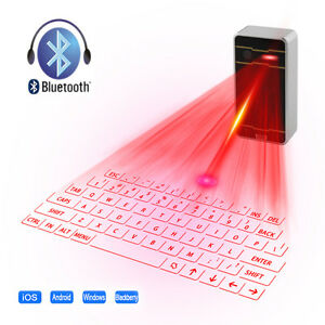 Wireless Bluetooth Laser Projection Virtual Keyboards For Smart Phones PC Tablet
