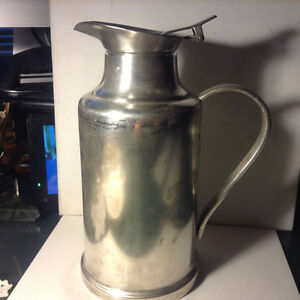 Old Christofle Silver Plated 34oz Thermos Teapot Coffee Pot